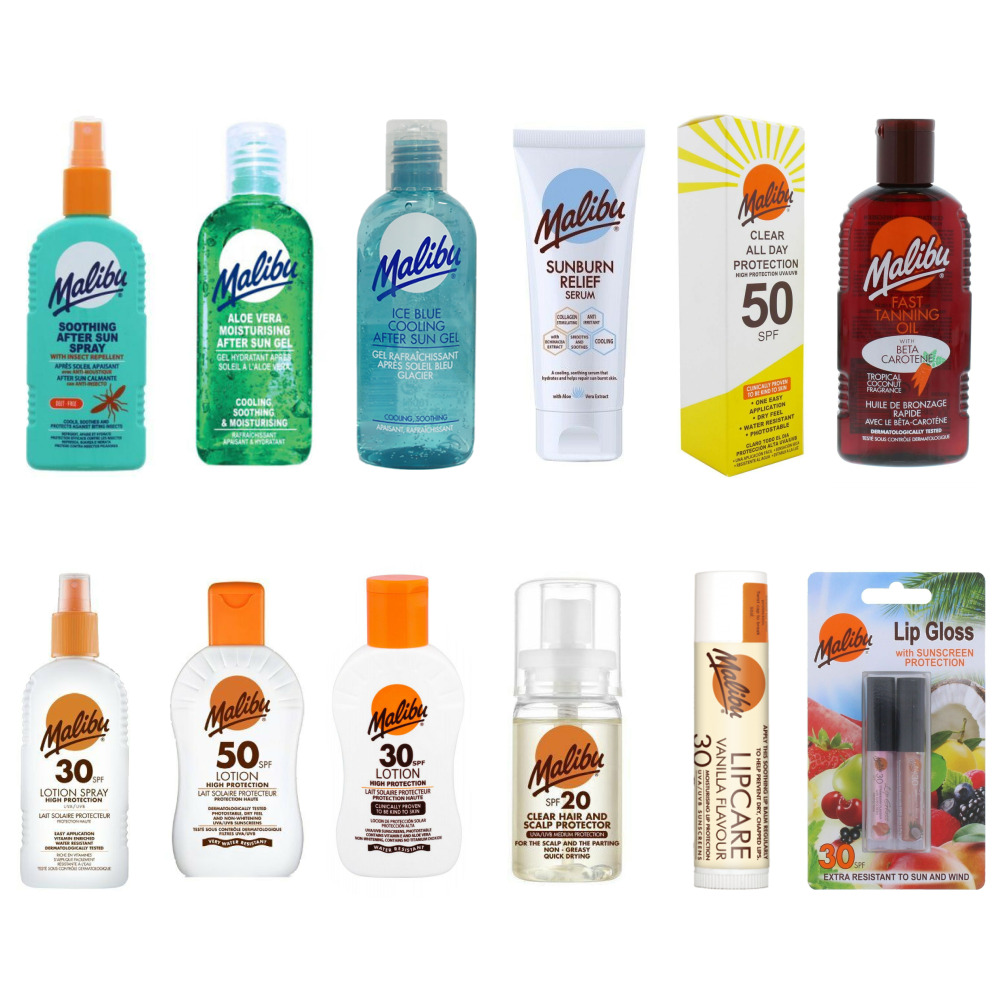 Malibu Sun Tan Protection Lotions Kids Adults SPF 20 30 50 - 38 To Choose From