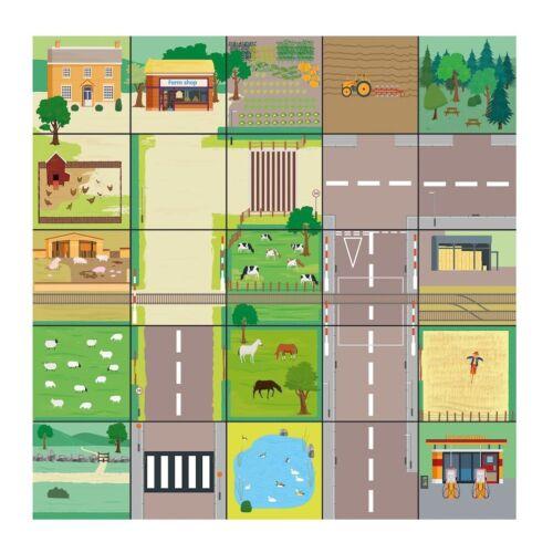 TTS Bee-Bot Countryside Mat, Floor playmats for kids, Educational Fun Robot mats