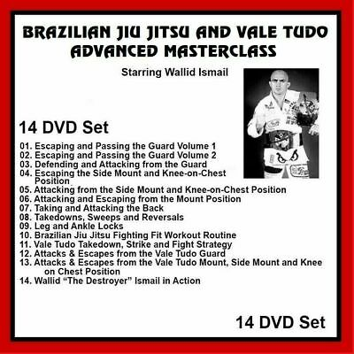 Wallid Ismail 14 DVD SET Brazilian Jiu Jitsu Vale Tudo MMA  panther productions