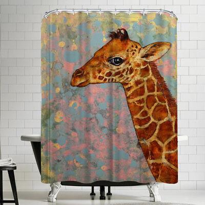 East Urban Home Michael Creese Baby Giraffe Shower Curtain (Michaels Baby Shower)