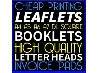 A4 A5 A6 Cheap Flyers Leaflet Design 5,000 Business Leaflets Brochure Online Printing Leeds