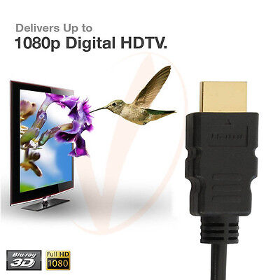 2 Pack Super Speed 2FT 1080P HDMI Cable For HDTV, Plasma, LCD, PS3, DVD 1080p Hdtv Plasma Lcd