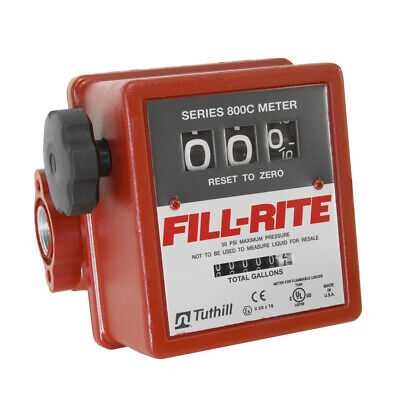 Fill-rite 3-wheel Mechanical 1 In - 1 Out Meter 5 - 20 Gpm 50 Psi 807c1