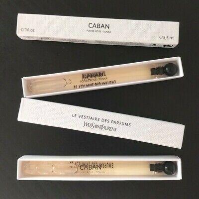 YSL Yves Saint Laurent Vestiaire Des Parfums CABAN .11oz 3.5ml Sample x2 Vials !
