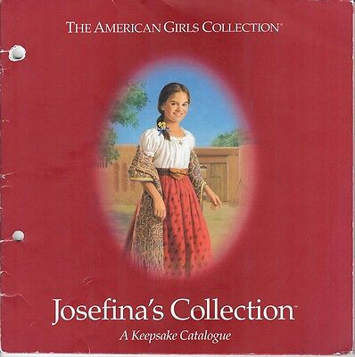 2000 RETIRED JOSEFINA PLEASANT COMPANY CATALOG~AMERICAN GIRL~KEEPSAKE COLLECTION