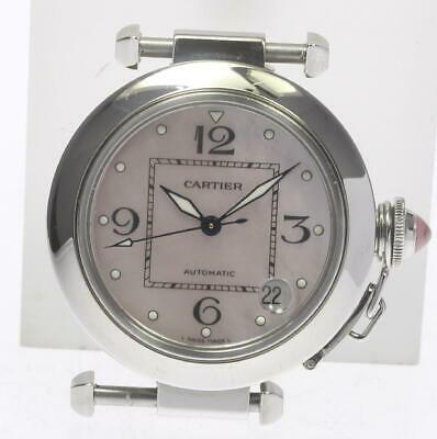 Cartier Pasha C W3106499 Automatic Shell Dial Head SS from Japan [a1011]
