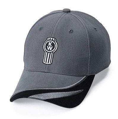 Kenworth Motors Trucks Black & Dark Gray Two Tone Side Brushed Cap/Hat Motor Brush Cap