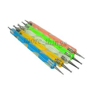 5pcs-ONE-Set-2-Way-DOTTING-PEN-MARBLEIZING-TOOL-NAIL-ART-Design-DOT-PAINT-TOOLS