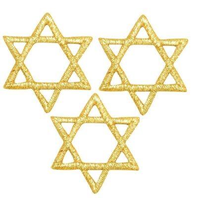 Star of David Applique Patch - Metallic Gold, Hanukkah 1