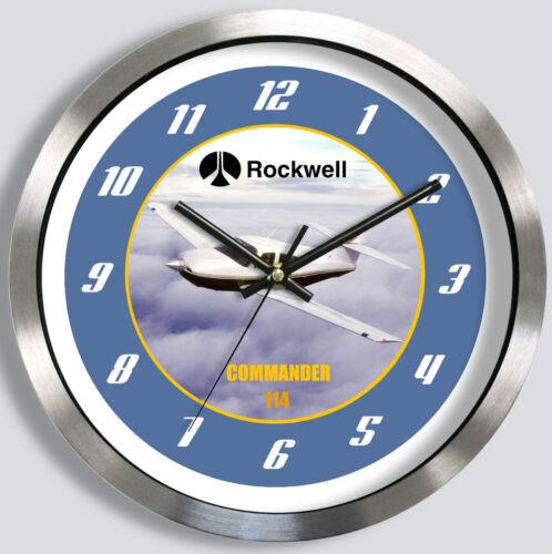 ROCKWELL COMMANDER 114 METAL WALL CLOCK 114B