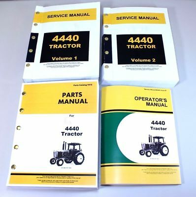 Service Manual Set For John Deere 4440 Tractor Parts Operators Owner Tech Repair