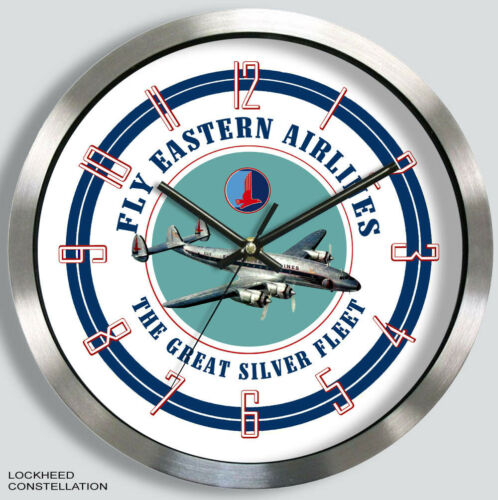 EASTERN AIRLINES LOCKHEED CONSTELLATION WALL CLOCK METAL 1950s