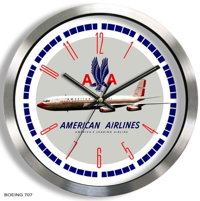 AMERICAN AIRLINES BOEING 707 WALL CLOCK METAL 1950