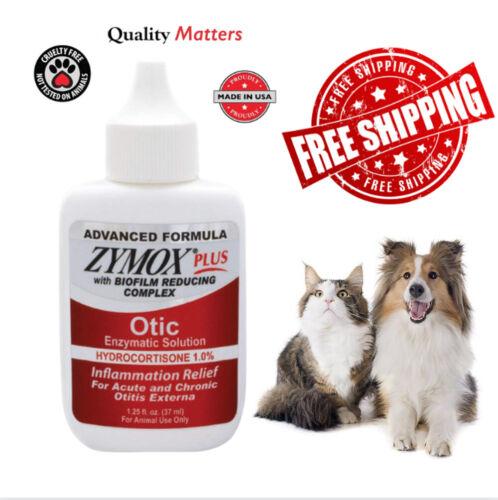 Zy mox Plus Advanced Formula 1% Hydrocortisone Otic Dog&Cat Ear Solution,1.25OZ