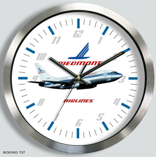 PIEDMONT AIRLINES BOEING 737 WALL CLOCK METAL 1970s 1980s