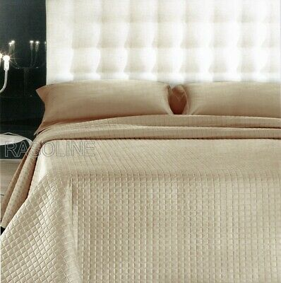 Quilted Bedspread Double Quilt Satin cotton Beige Discount from 125