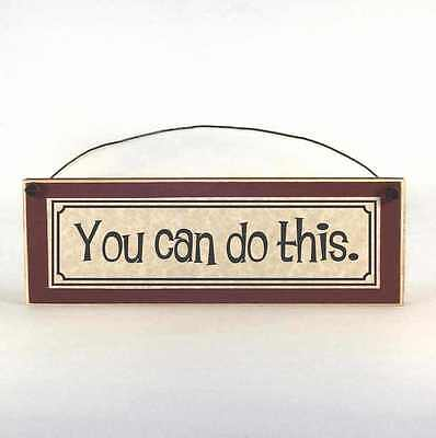 You Can Do This sign, Inspirational gift plaques, rustic wood, farmhouse style ()