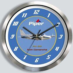 PIPER PA-30 TWIN COMANCHE METAL WALL CLOCK pa30