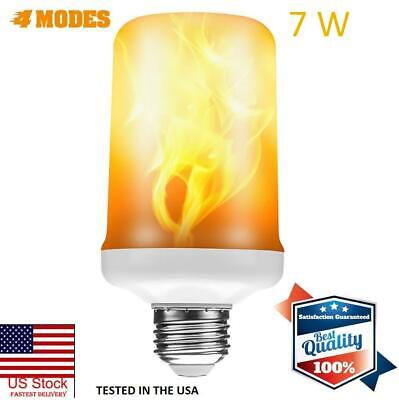 LED Flame Effect Light Bulbs E26/E27 Fire Flickering Light B