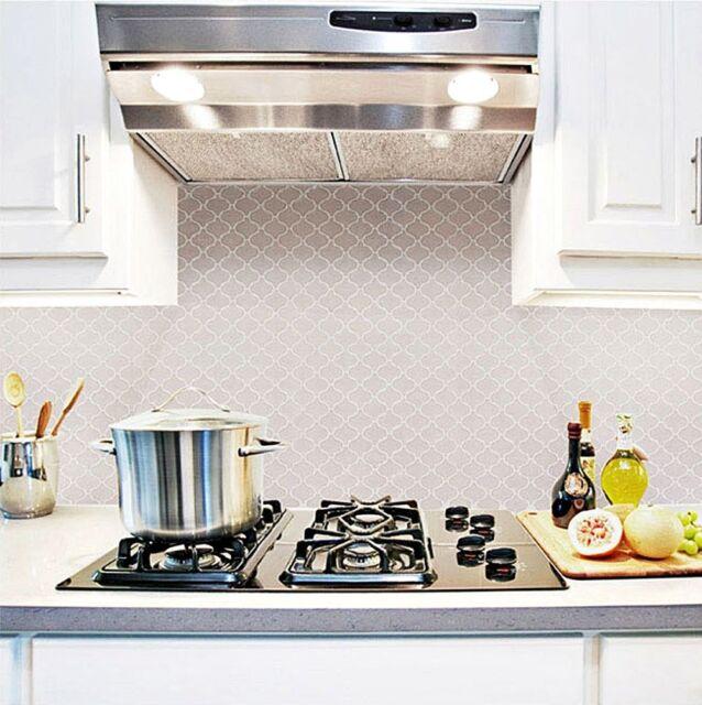 Home Bathroom Kitchen Wall Decor 3d Sticker Wallpaper Art Tile Bianco Backsplash