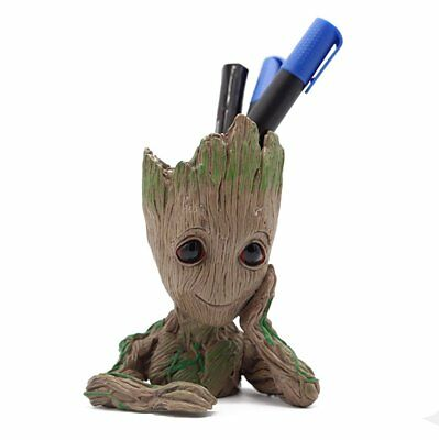 Baby Groot Pencil Holder Office Organizer Cute Action Figures Kids Pen Holder