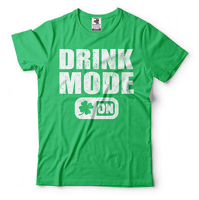 St Patricks Day Party T-shirt Drink Mode On Cool T-shirt St Patrick's Day Parade