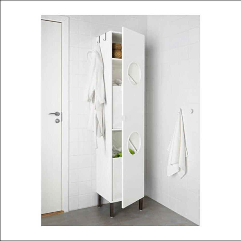 White IKEA LILLÅNGEN Laundry cabinet, 180 cm Tall | in Southwark ...