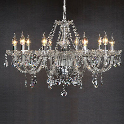 Claro Marie Thérèse 10 Light de Cristal y Vidrio Lámpara de araña