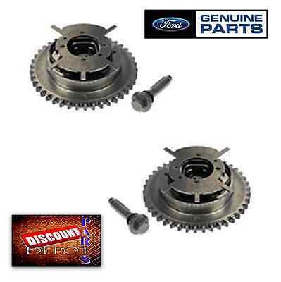 Set 2 Genuine Ford 5.4L 3V Camshaft Phaser Sprocket V8 F150 Explorer Gear Timing