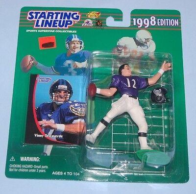 BALTIMORE RAVENS VINNY TESTAVERDE #12 NFL FOOTBALL STARTING LINEUP 1998 EDITION