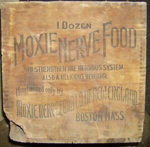 Vintage Moxie Nerve Food Crate Soda Pop New England Boston