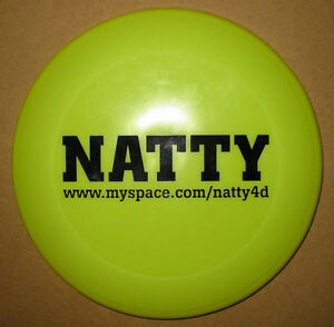 NATTY-Man-Like-I-July-promo-dayglo-green-frisbee-MINT-condition