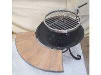 Garden Fire Pit and BBQ in One