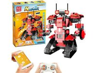 Building Blocks Robot Toy, Kids Remote Control STEM Robot Toy Educational Learning DIY