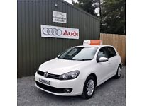 MK6 VOLKSWAGEN GOLF 1.6 TDI S, CANDY WHITE, 12 MONTHS MOT, FULL SERVICE HISTORY, £30 PER YEAR TAX