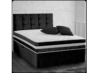 🔵💖🔴FREE & FAST DELIVER🔵💖🔴DIVAN CRUSH SINGLE-DOUBLE+SMALL DOUBLE & KING SIZE BED BASE