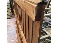 🐛Pressure Treated Flat Top Brown Fence Panels