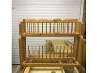 Handmade Pine Platerack, excellent condition
