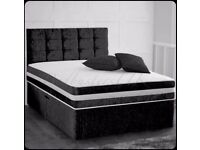 CV Divan Bed Base With 2000 Sprung Foam Wi Different Color