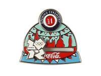 WANTED London 2012 Coca-Cola Pin Badge 'Opening Ceremony' Day 1