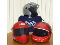 3 MOTOR BIKE HELMETS