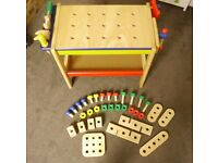 Pintoy toddlers workbench – all wood, by Pintoy