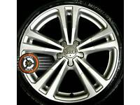 "18"" Genuine Audi new shape 2015 alloys refinished, new Michelins."