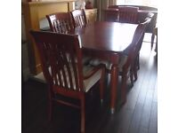 Solid wood dining table, 6 chairs and sideboard for sale