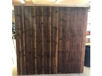 🌷New Pressure Treated Brown Feather Edge Straigt Top Fence Panels• Excellent Quality