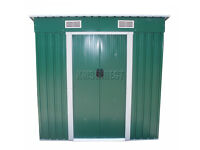 FoxHunter New 4ft x 6ft Garden Shed Metal Pent Roof Outdoor Storage With Foundation