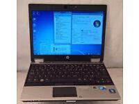 "HP Elitebook 2540p. i5 1st Gen 2.53GHz. 4GB RAM. 250GB HDD. WIFI. WEBCAM. Bluetooth. LED 12.1"". Win7"