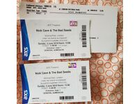 2 tickets Nick Cave & Bad Seeds, LONDON 3 June