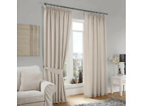 Curtina Lincoln Cream Lined Pencil Pleat Curtains Width: 168cm Drop: 182cm BRAND NEW ! ONLY £40 !
