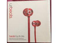 Beats urBeats Earphones - Brand New Red or Black.